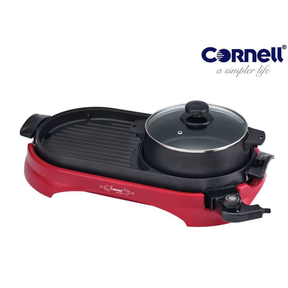 Cornell Grill & Steamboat Non-Stick Pan Grill (2 in 1) CCG-EL68N