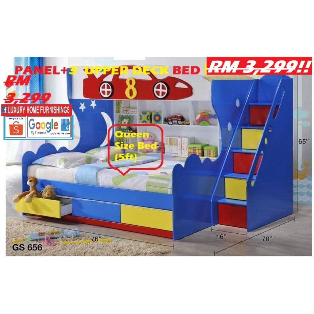 BUNK BED, CHILDREN SET COLLECTIONS, EXPORT SERIES, RM 3,299. SAVE 30% ,HARI RAYA OFFER!!