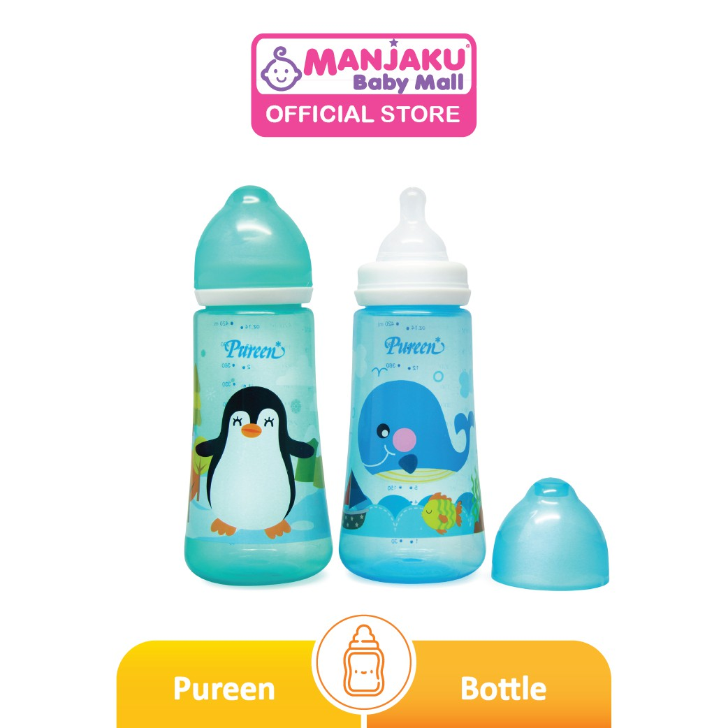 Pureen Promo Pack - 2 x 14oz Wide Neck Bottles (Assorted)