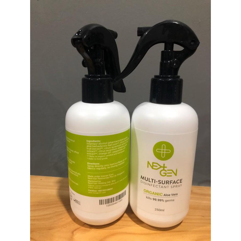 (READY STOCKS) NEXTGEN Multi Surface Disinfectant Spray (250ml) ORGANIC