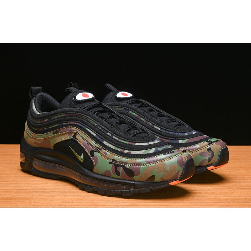 NIKE Air Max 97 PREMIUM QS swoosh X Japan green mens sport running shoes 40 45