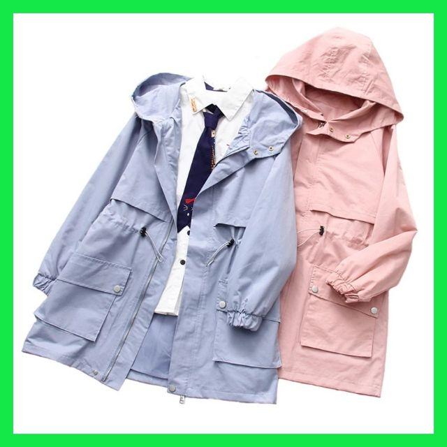 Women Jacket - Outerwear Long Windbreaker Jacket Plus Size with Hooded