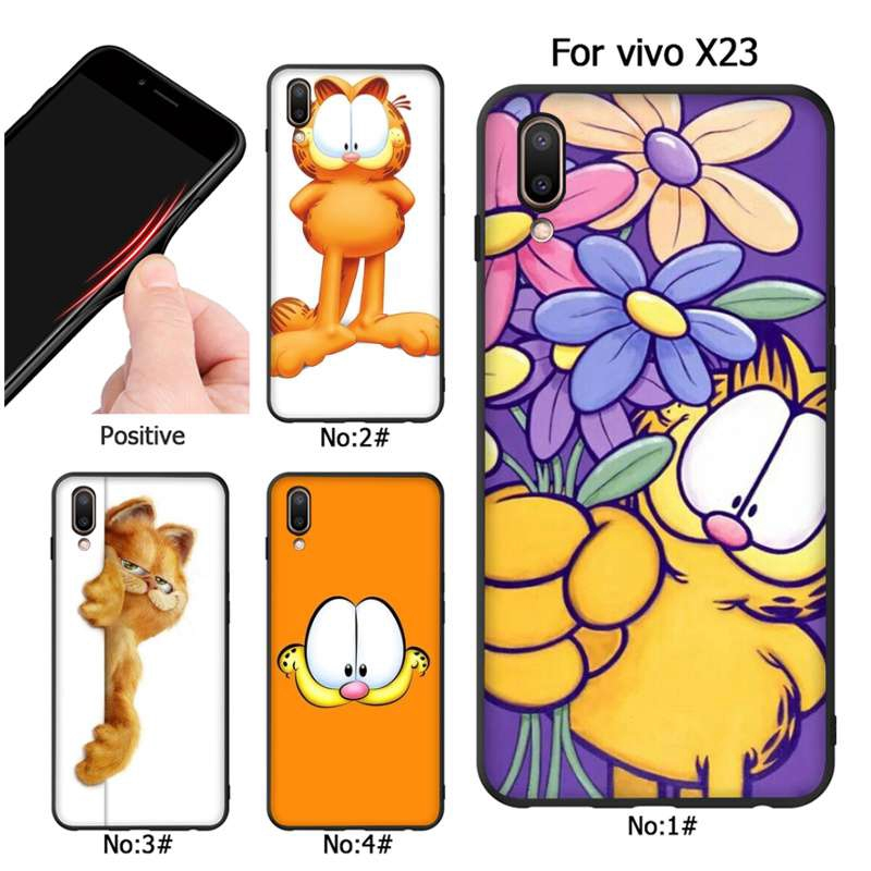 cute lovely cartoon garfield For iphone 8 X XS XR Phone Shell | Shopee Malaysia