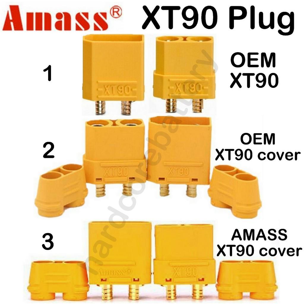 Amass XT90 Male Female Gold Plated Banana Plug Lipo Li-po RC Battery Bullet 4.5mm Connector DIY Drone Sheath Housing Cap
