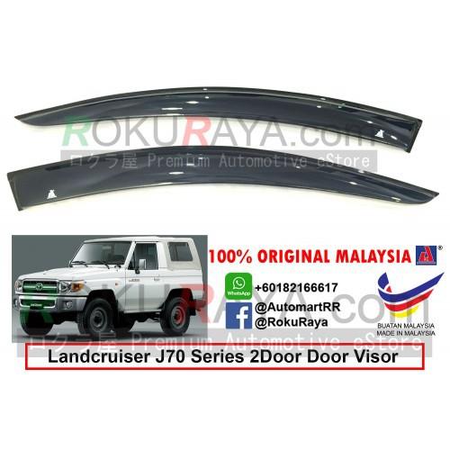 Toyota Landcruiser J70 Series 2Door 1984 AG Door Visor (Big 12cm Width)