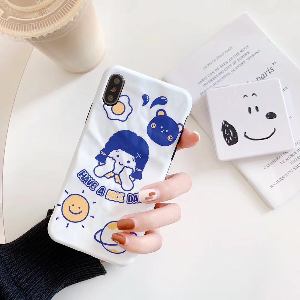 Case Gambar Kartun Warna Putih Untuk IPhone