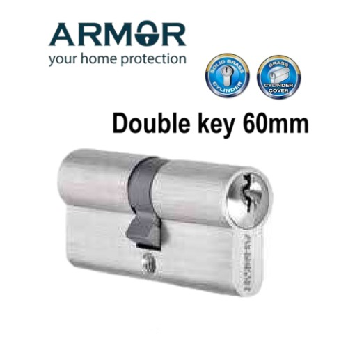 Armor Euro Profile Cylinder Double Key 70mm/60mm (grill lock/gate lock)