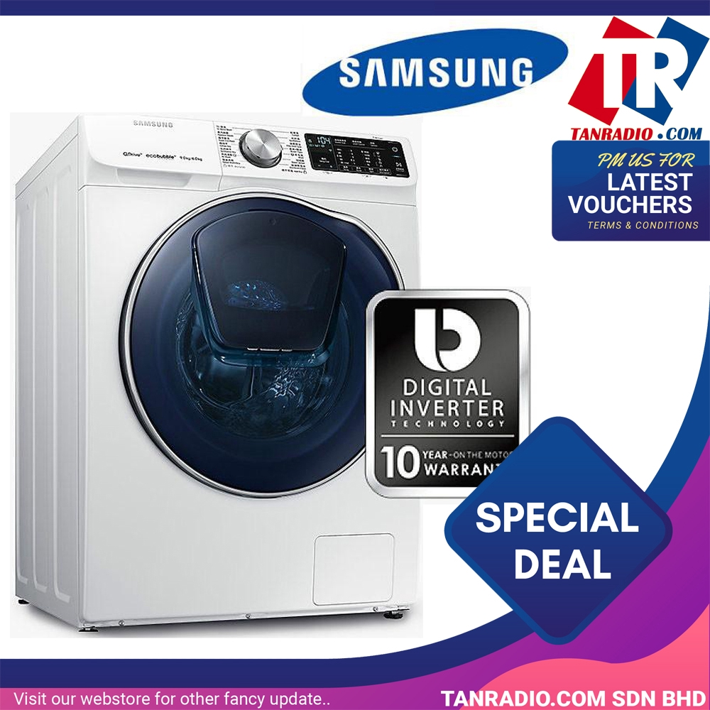 Samsung Front Load Combo Washer (9kg + 6kg) WD90N64FOOW/FQ