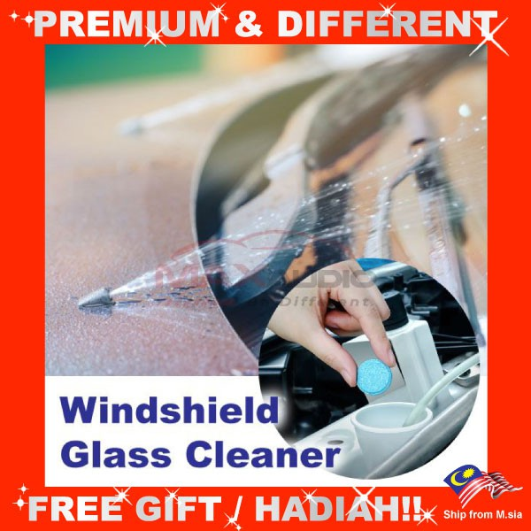 [FREE Gift] Car Vehicle Wiper Windshield Glass Lubricant Washer Cleaner Cleaning Compact Detergent Effervescent Tablet