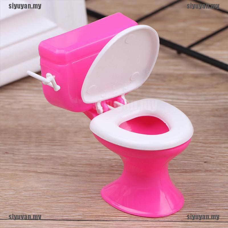 Cute Wash Basin Toilet Doll Accessories Bathroom Devices Dollhouse Furniture Set