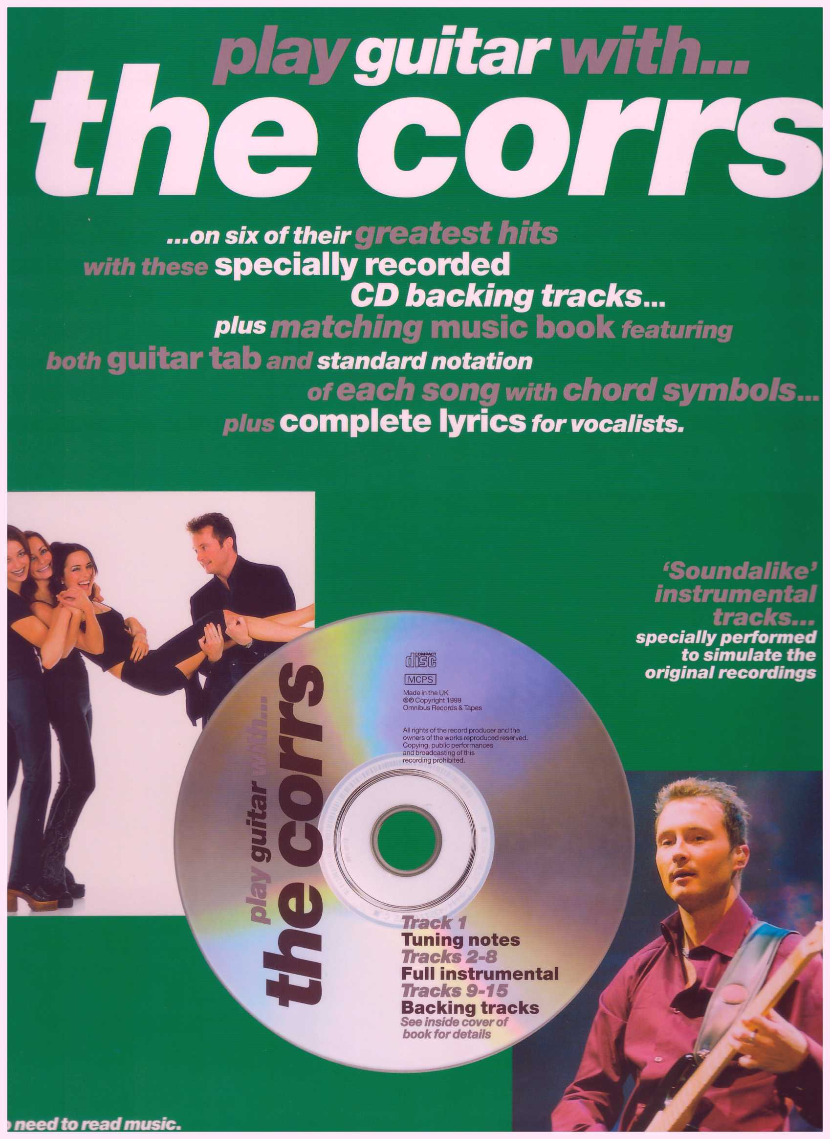 Play Guitar With... The Corrs  / Vocal Book / Voice Book / Guitar Book / Gitar Book / Tab Book / Guitar Tab Book
