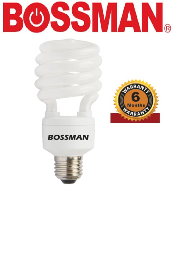 "BOSSMAN BS25D ""U: SHAPE BULB ENERYG SAVING LIGHT BULB COOL DAYLIGHT WARM LAMPU"