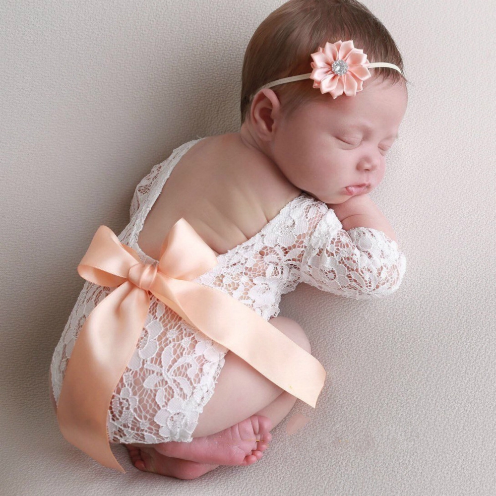 Baby Lace Romper Playsuit Newborn Photography Props Accessories Infant Outfit