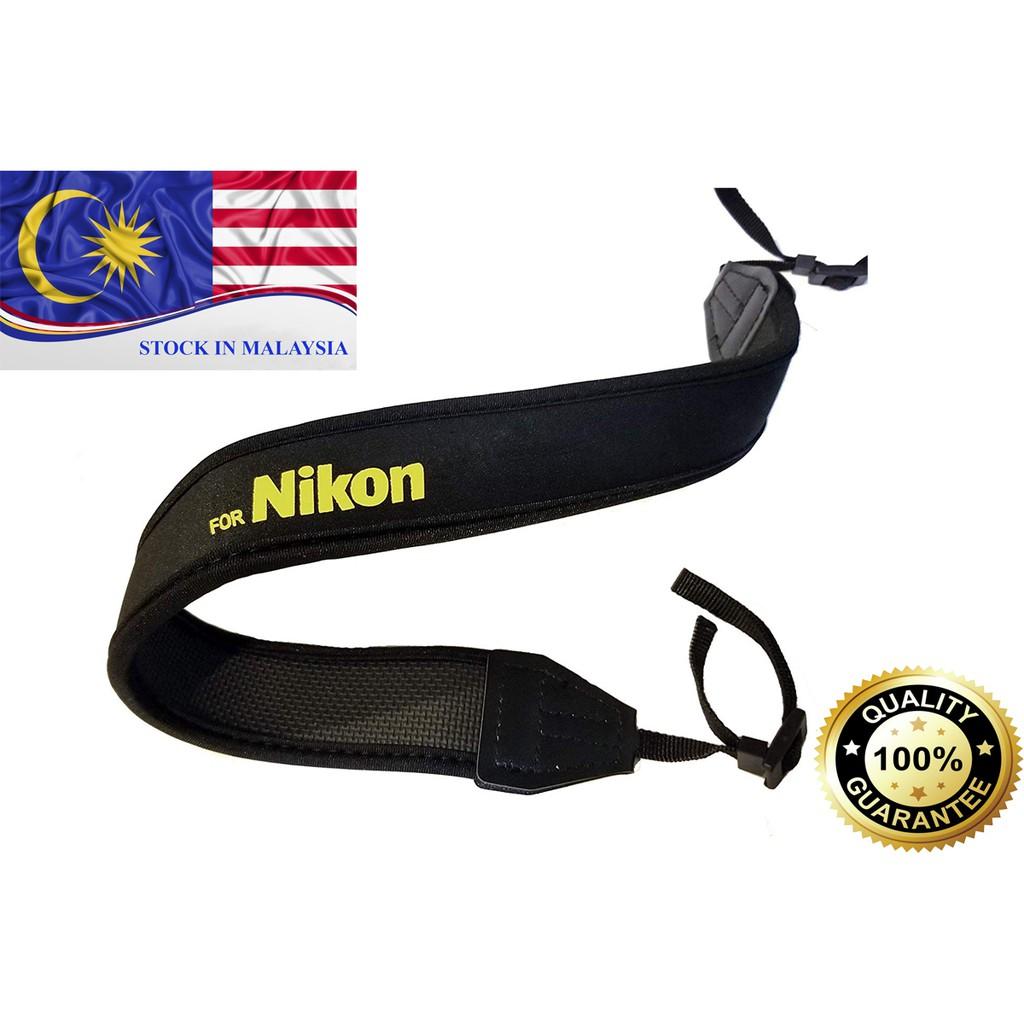 Black Neoprene Neck/Shoulder Strap For Nikon DSLR (Ready Stock In Malaysia)