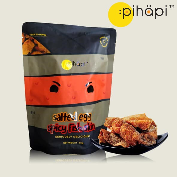 [PROMO] (Original / Mild Spicy) Pihapi Salted Egg Fish Skin Snacks