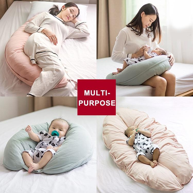 Flowers i-baby 4 in 1 Breast Feeding Pillow Baby Nursing Pillow with Cotton Knitted Cover Removable Maternity Pregnancy Support Cushion Multi-Functional