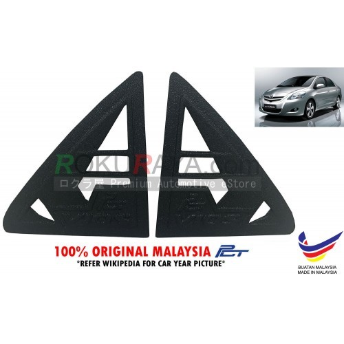 Toyota Vios Dugong NCP93 (2nd Gen) 2008 Rear Triangle Side Window Mirror Cover 2 Piece
