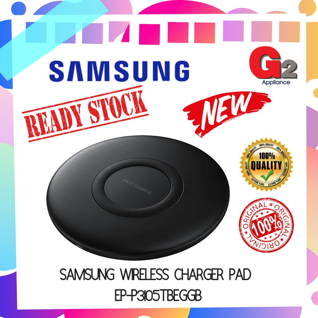 Samsung Wireless Charger Pad EP-P3105TBEGGB - ORIGINAL SAMSUNG MALAYSIA