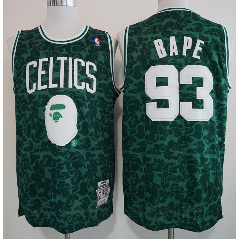 528bccb81440  NEWEST 2019 NBA basketball game Bape x Celtic retro jersey