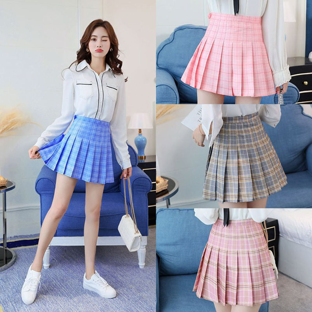 306f7554d9 ProductImage. ProductImage. Fashion Womens High Waist Skirt Slim Pleated  Skater Tennis School Skirt