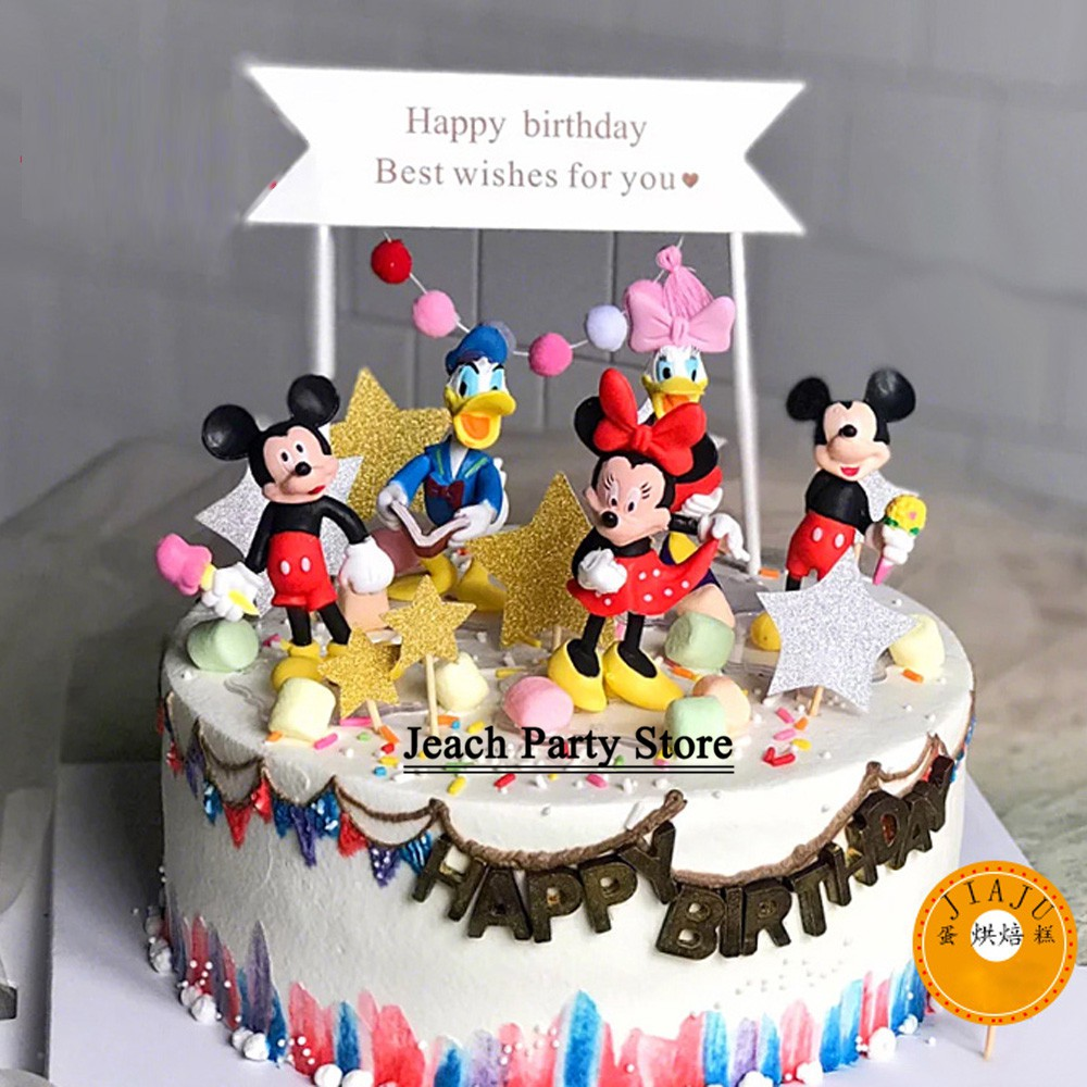 Cool Minnie Mickey Birthday Cake Topper Return Ts Birthday Party Funny Birthday Cards Online Elaedamsfinfo