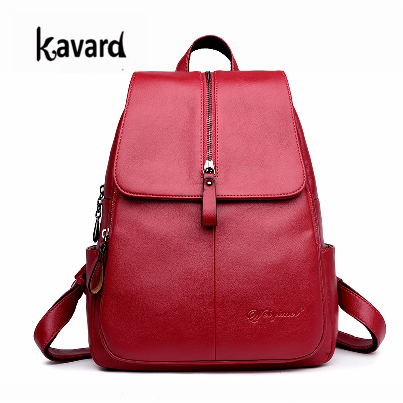 d7bbf2f2273 Women Leather Backpack Fashion Ladies Backpack School Bags for Teenager  Girls