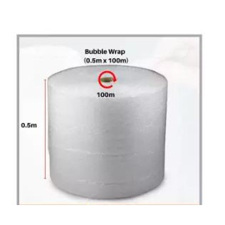 1 Roll Bubble Wrap 10mm (50CM x 100 Meter) packing Pembalut gelembung pembalut barang pos tebal 10mm 气泡膜