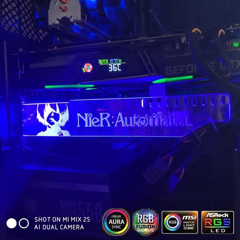 Bykski RBW//RGB LED Graphics Card GPU Holder Bracket 12V RGB LED