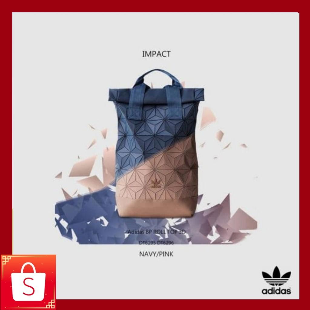 Adidas x Issey Miyake 3D Urban Mesh Roll Up Black Backpack Bag Men and  womenbag  48e10126f9620