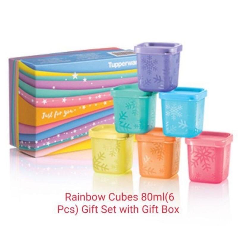 🔥Hot Deal🔥Tupperware Rainbow Cubes Gift Set 80ml