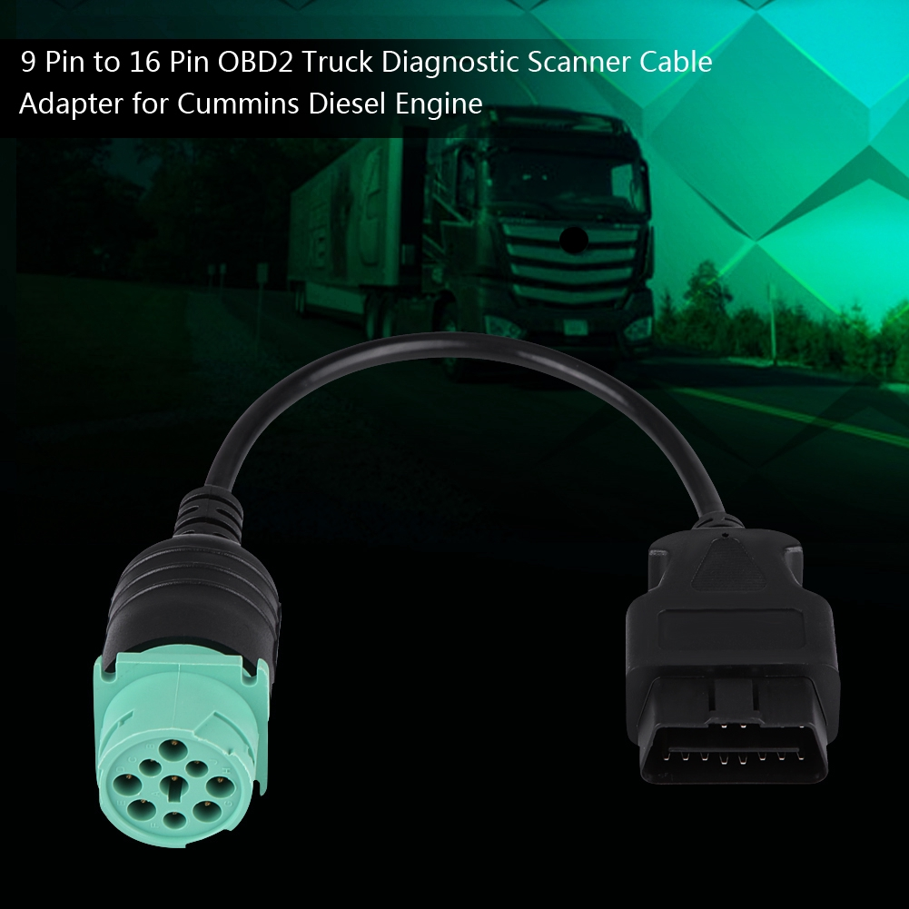 9Pin-16Pin OBD2 Truck Diagnostic Scanner Cable Adapter for