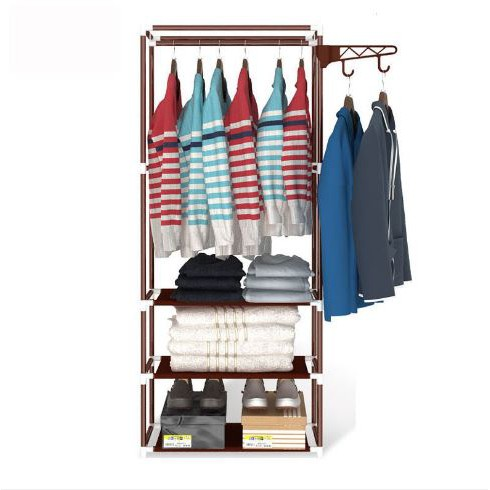 Multi-Functional Clothing with Hanger Storage Rack