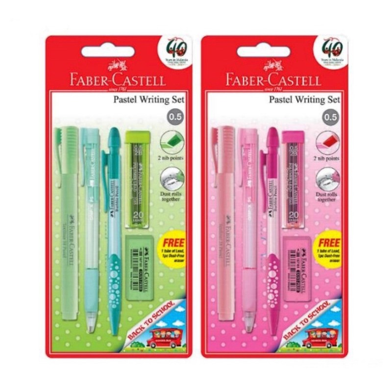 【READY STOCK】Faber-Castell Back to School Pastel Writing Set