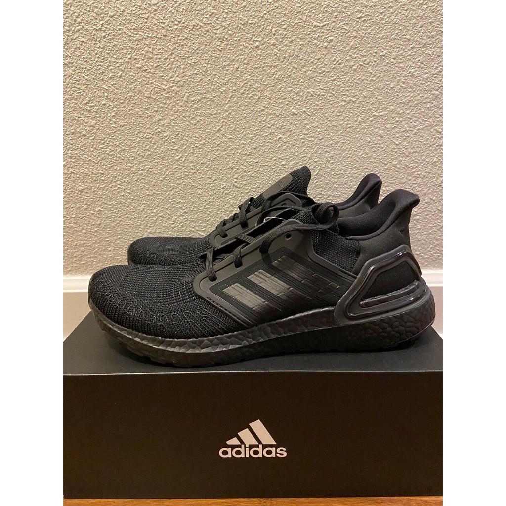 Adidas UltraBoost Ultra Boost 20 Triple Black New Men's Running Shoes All Black EG0691