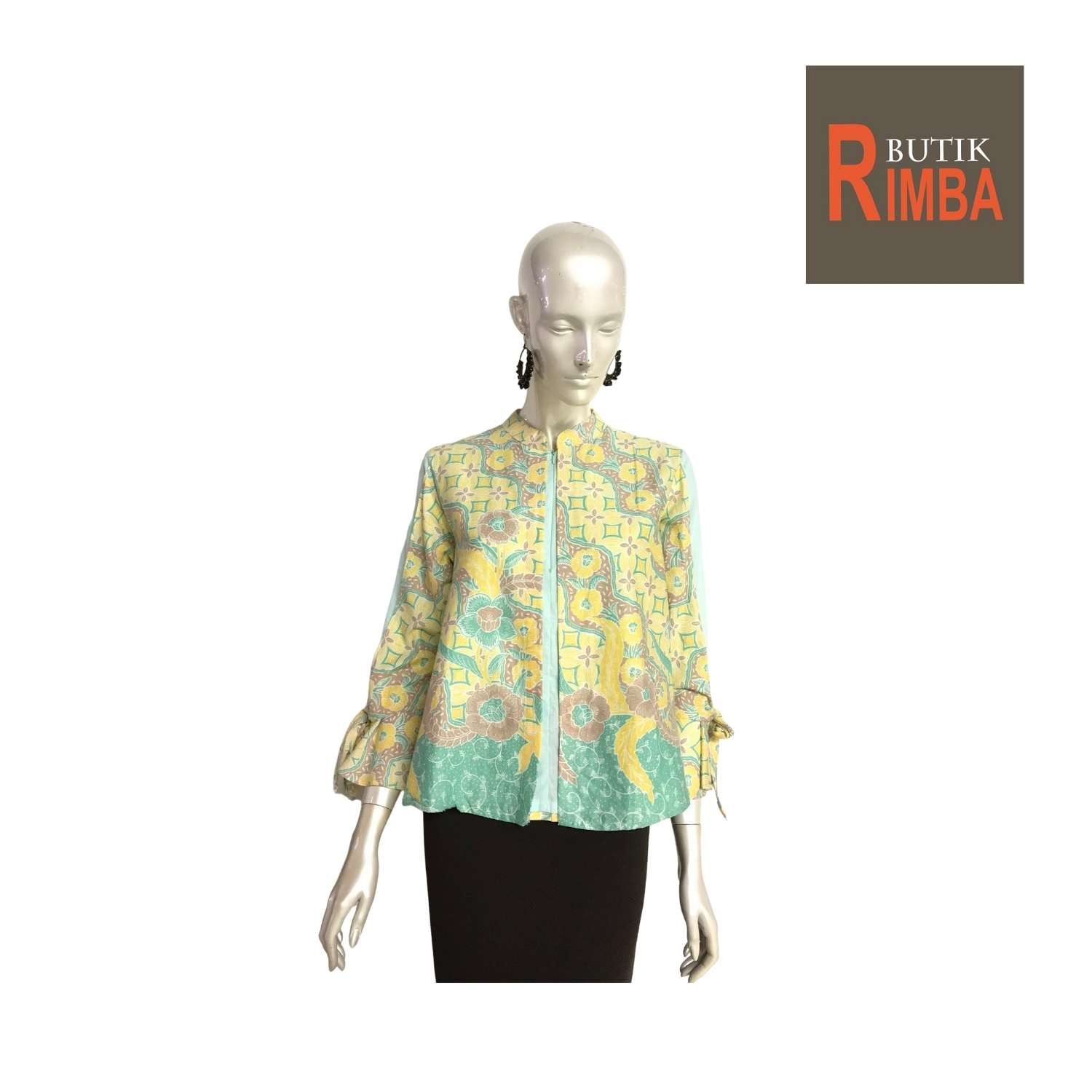 LONG SLEEEVE BATIK TOP WITH VIBRANT COLORS FOR MODERN STYLISH WOMEN