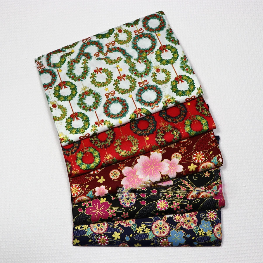 PATCHWORK// CRAFT FABRIC FAT 1//4/'s 100/% COTTON SMALL FLORAL DESIGN IN GREEN