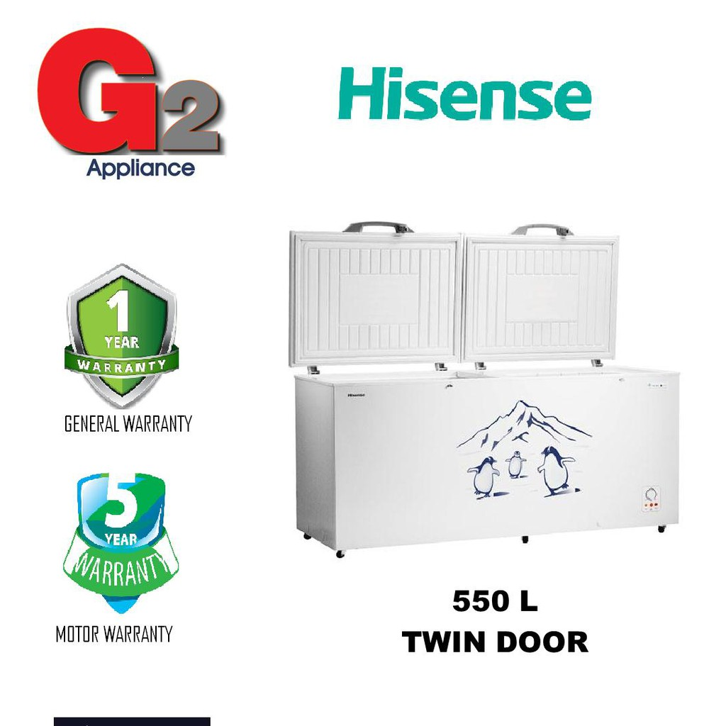 HISENSE (550L) CHEST FREEZER TWIN DOOR FC-663