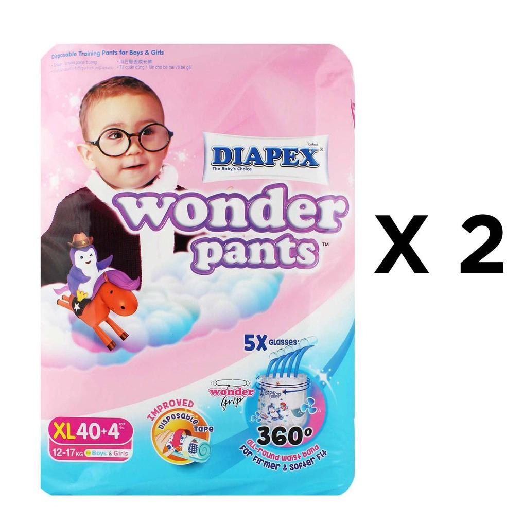 Diapex Wonder Pants XL40+4 Twin Pack (88s total)