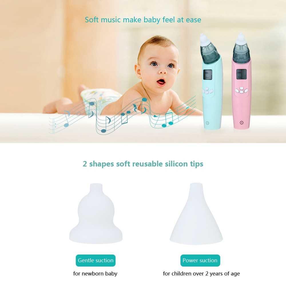 Baby Nasal Aspirator Safe Hygienic Nose Snot Cleaner Suction For Newborn Infant Toddler Blue (Pink)