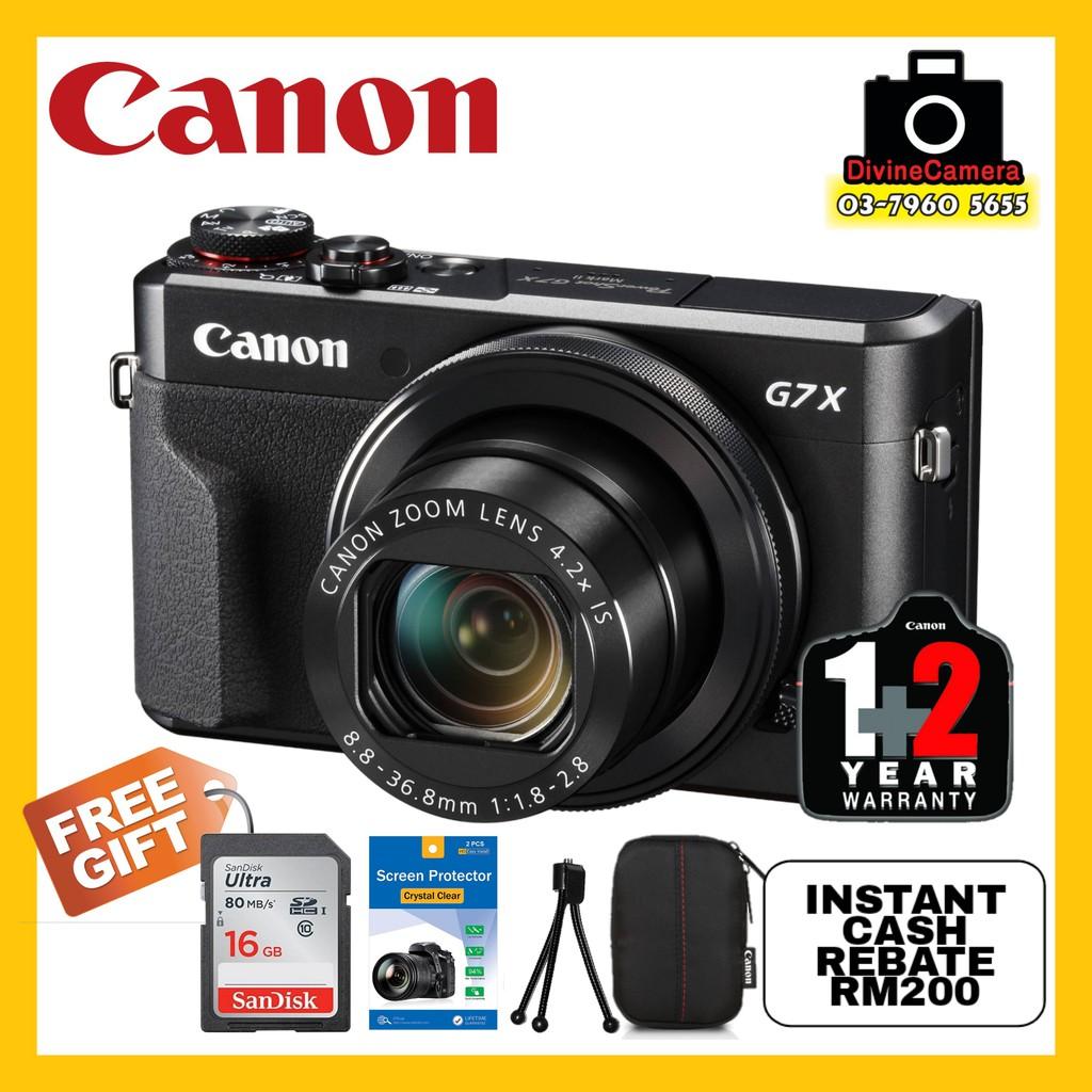 Canon Powershot G7x Mark Ii Digital Camera Free 16gb Memory Card
