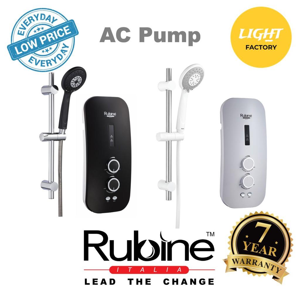 Rubine RWH-SSE852A Water Heater Inverter AC Booster Pump Carbon Black