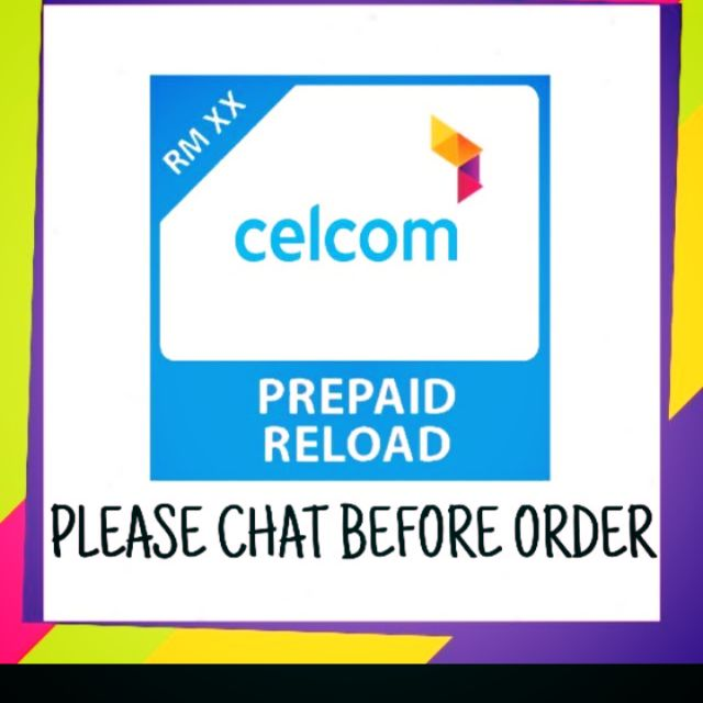 CELCOM XPAX RELOAD RECHARGE TOPUP TOP UP PREPAID