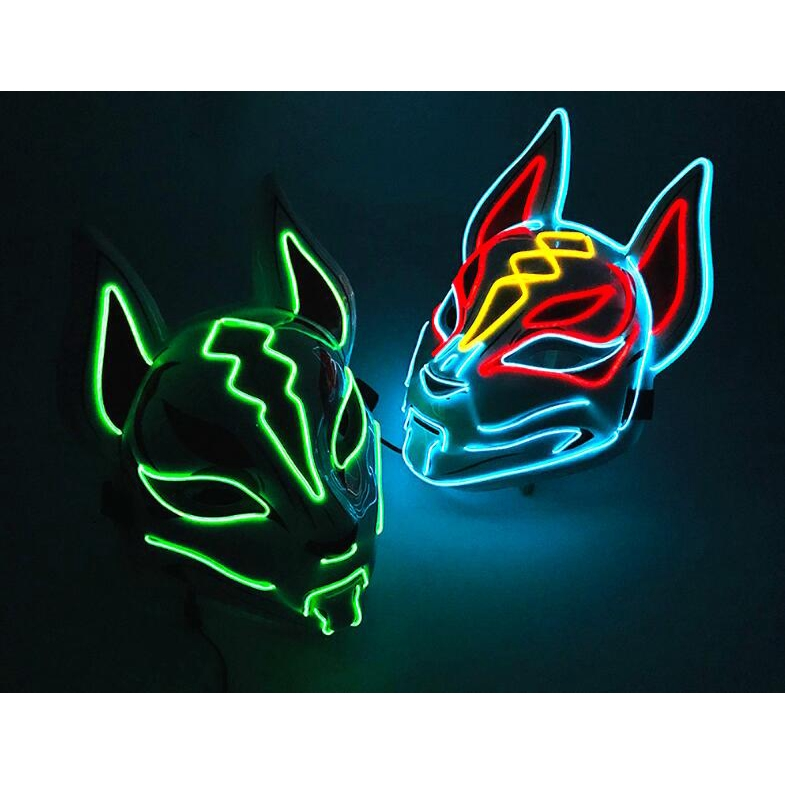 Anime Expro Decor Japanese Fox Mask Neon Led Light Cosplay