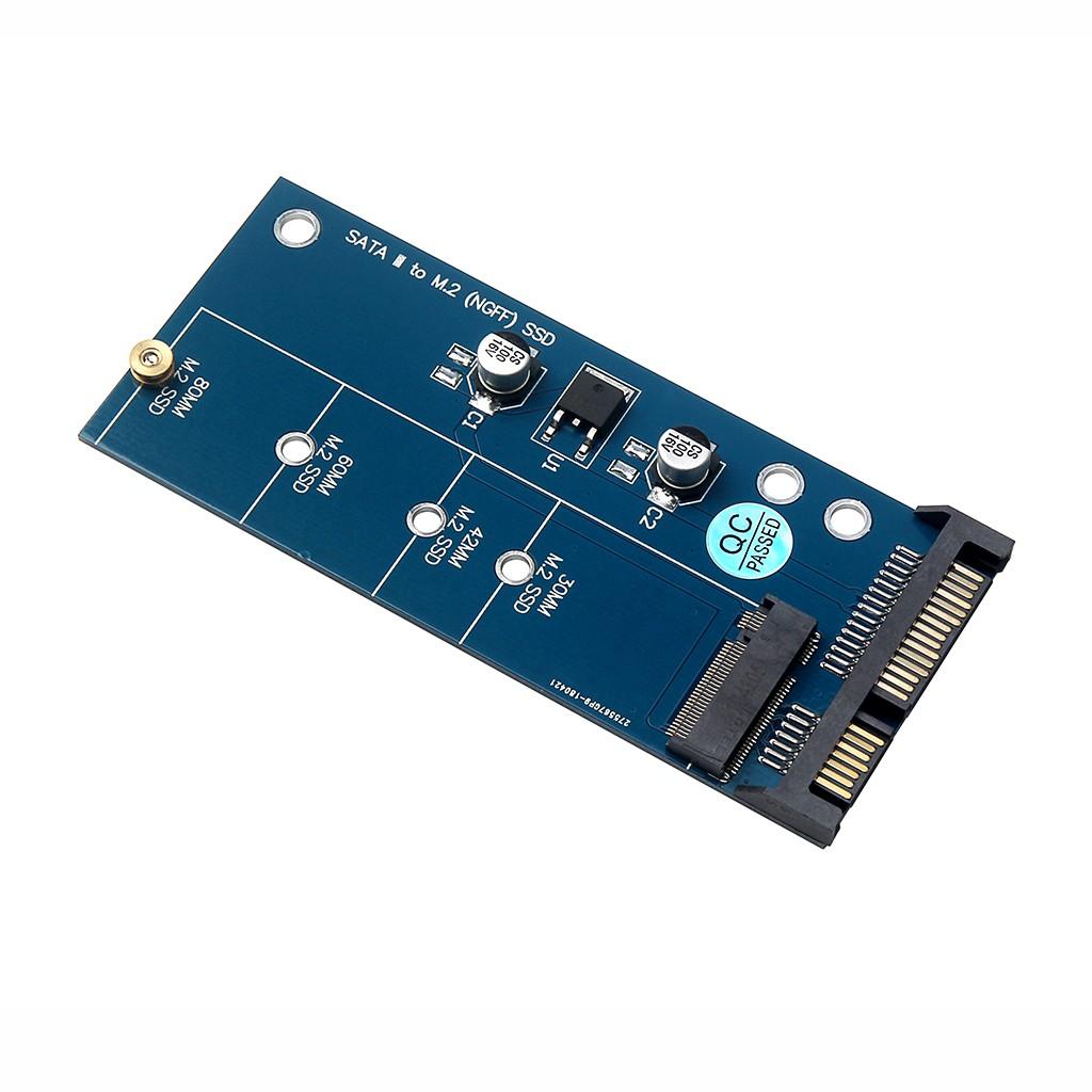 M2 NGFF SSD SATA3 SSDs To SATA Expansion Card Adapter SATA To NGFF Converter New