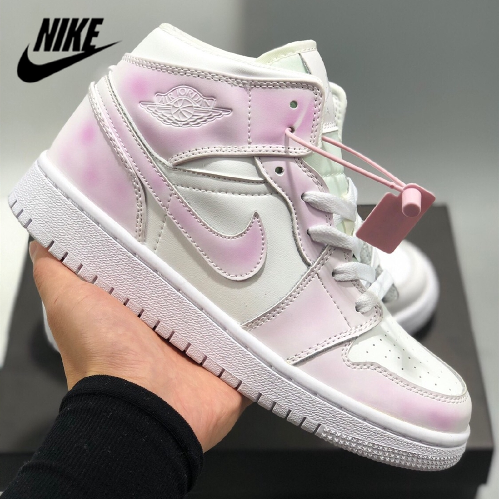san francisco ff338 2ad1d NIKE Air Jordan 1 Mid women's shoes running shoes UV color casual shoes  sneakers