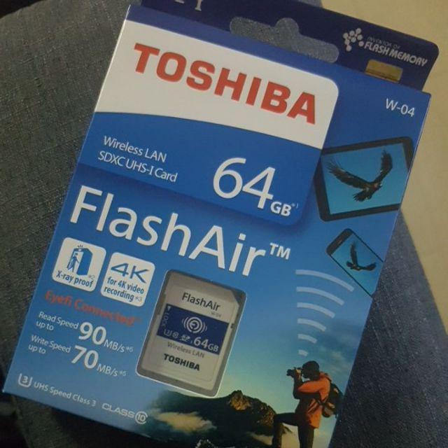 Toshiba FlashAir 16GB/32GB/64GB Wireless Wifi SD Card IV