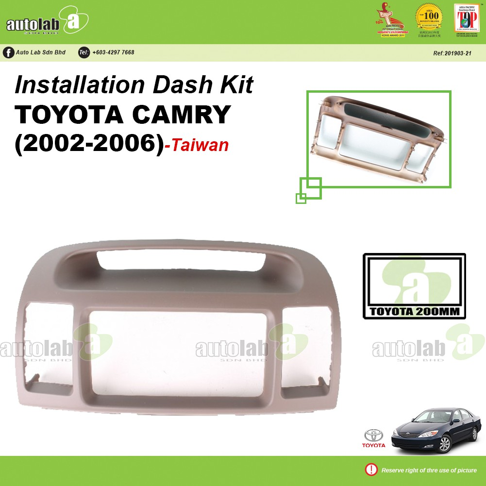 Player Casing Double Din Toyota Camry 2002-2006 (Taiwan)