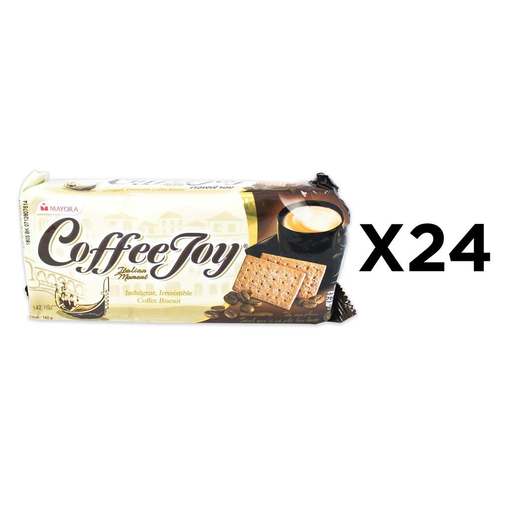 Mayora Coffee Joy Premium Biscuits (142g x 24 Packs)