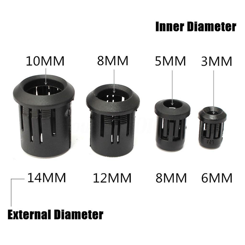 8mm Diameter 25 Black LED Bezel//Holder//Mount for 5mm Leds