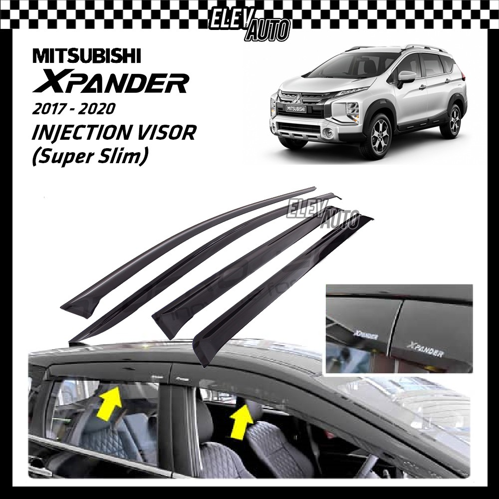 SUPER SLIM Injection Door Visor Mitsubishi Xpander (4pcs/set)